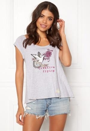 Odd Molly Print Love T-shirt Grey Melange XS (0)