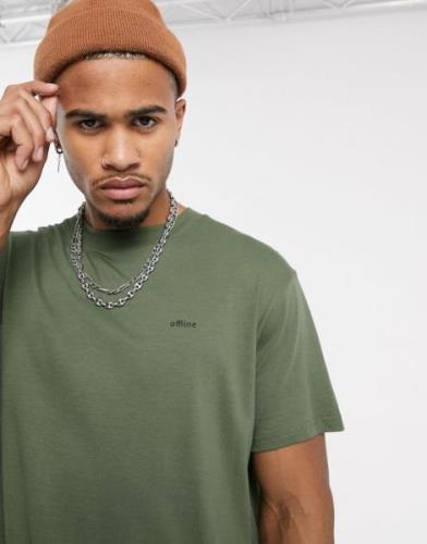 Night Addict – Offline – T-shirt i oversize-modell-Grön