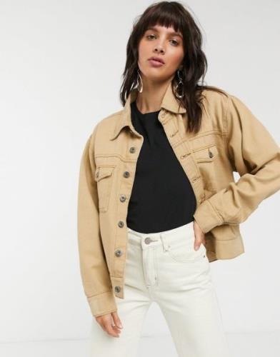 FAE – Cowboyskjorta med bruna sömmar, del av set